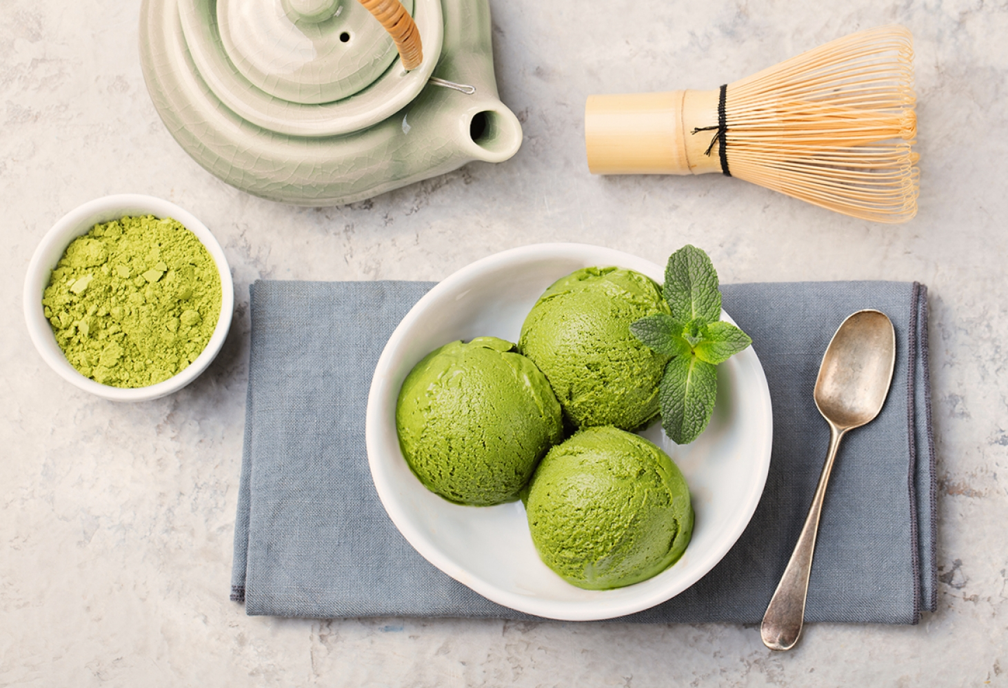 Matcha ice cream 1