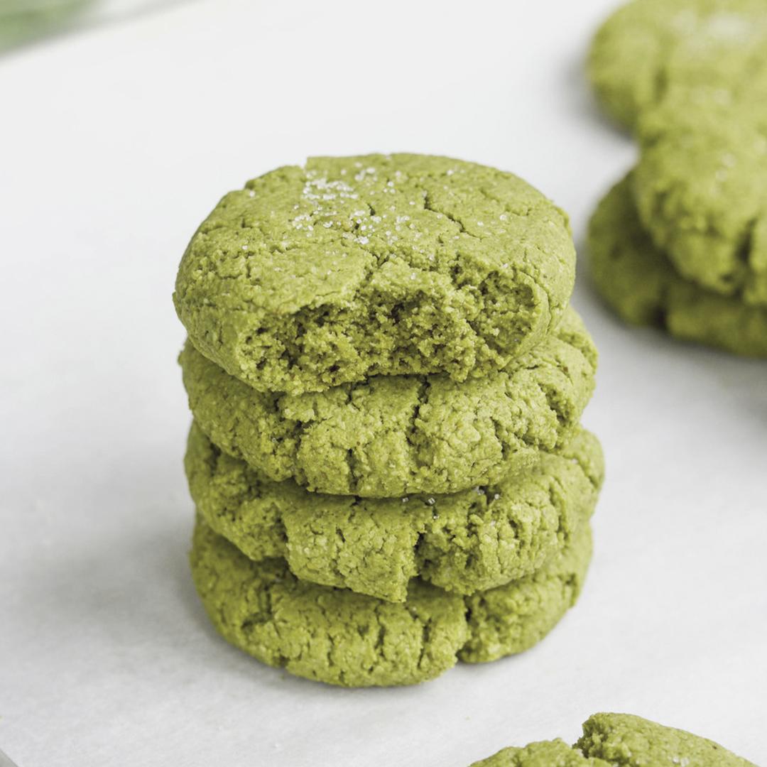 Vegan matcha cookies 1